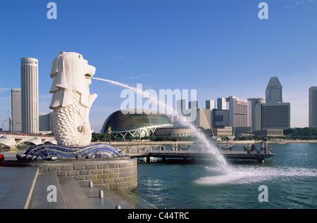 L'Asie, Ville, fontaine, maison de vacances, monument, Merlion, Singapour, Asie, Skyline, statue, Suntec, tourisme, Voyage, Vacances,
