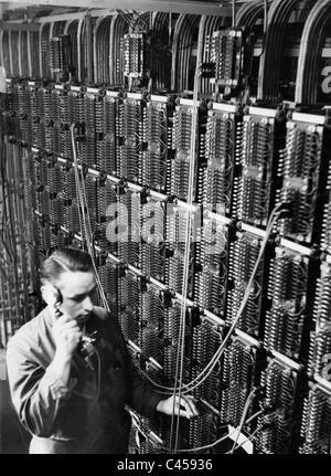 L'équipement de télécommunications dans les années 30 Banque D'Images