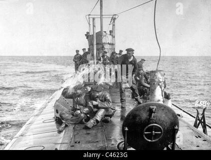 Le U-boot allemand lors de la Première Guerre mondiale Banque D'Images