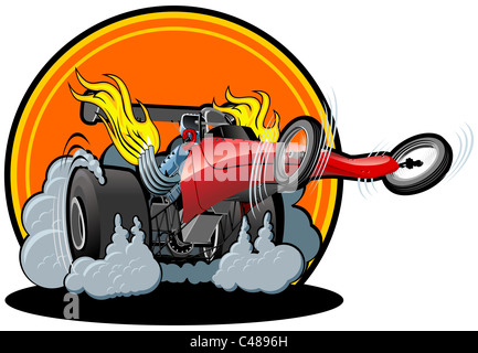 Cartoon dragster Banque D'Images
