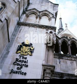 La Royal Courts of Justice Ville de Westminster London England UK Banque D'Images