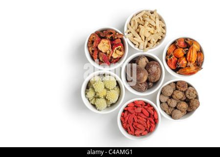 Assortiment de la médecine traditionnelle chinoise Banque D'Images