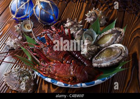 Les fruits de mer de la région d'Ise-Shima Banque D'Images