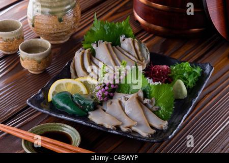 Sashimi de Awabi Banque D'Images