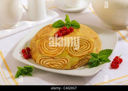 Bombe gâteau d'agrumes. Recette disponible. Banque D'Images
