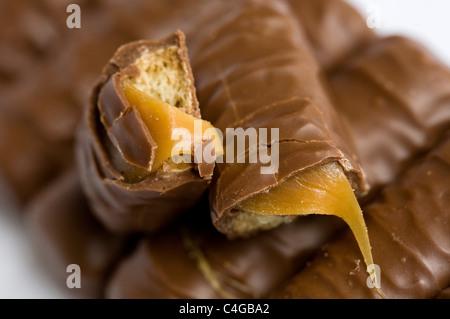 Twix barres au chocolat. Banque D'Images