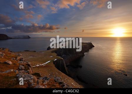 Neist Point, île de Skye, Écosse Banque D'Images