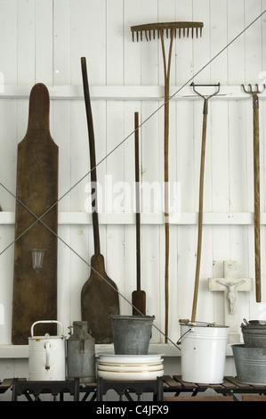 outils de jardin Banque D'Images