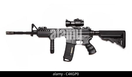 Série d'armes modernes. Spec Ops de l'armée américaine M4A1 Carbine construction personnalisée avec RAS VIS. Banque D'Images