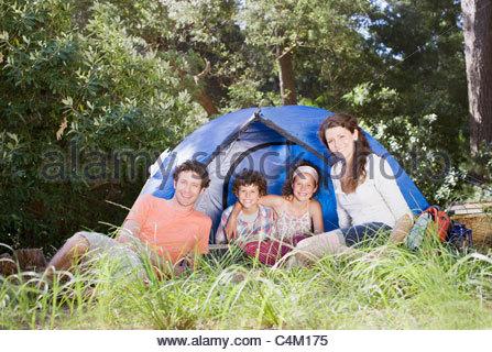 Family tente Banque D'Images
