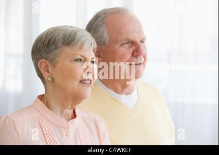 USA, New Jersey, Jersey City, Portrait of senior couple Banque D'Images
