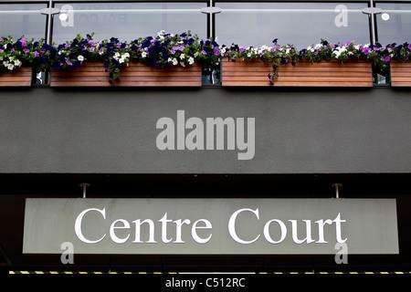 Les Championnats de tennis de Wimbledon 2011, le All England Club dans la banlieue de Londres de Wimbledon. United Banque D'Images