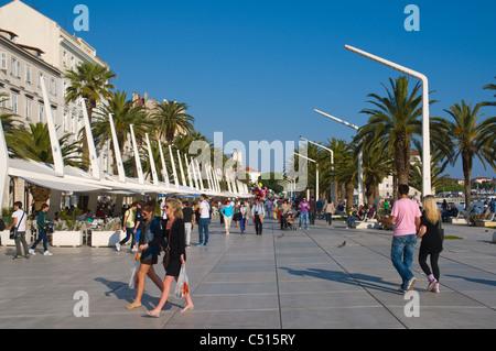 Riva le front en Split Dalmatie Croatie Europe