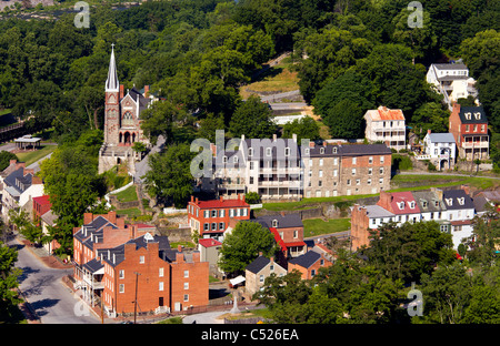 Harpers Ferry dans le comté de Jefferson, West Virginia, USA Banque D'Images