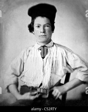 MARK TWAIN (1835-1910) écrivain et humoriste américain à 15 ans en 1850 Banque D'Images