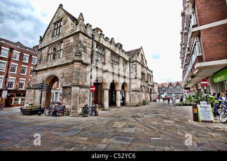 Vieux Marché de Shrewsbury, située sur la place. Banque D'Images