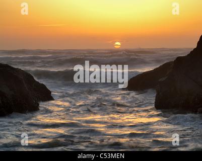 Sunset Cove. Les sables bitumineux de l'éperlan State Park, New York Banque D'Images