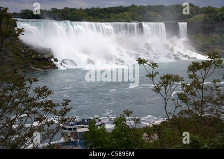 Maid of the Mist dock et american Falls à Niagara Falls ontario canada Banque D'Images