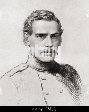 Tolstoi à vingt-neuf, comme officier dans la guerre de Crimée. Léon Nikolaïevitch Tolstoï, 1828 - 1910. L'écrivain Banque D'Images