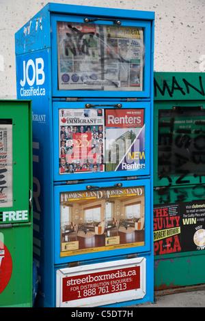 Des journaux gratuits pour les jobs à Toronto ontario canada Banque D'Images