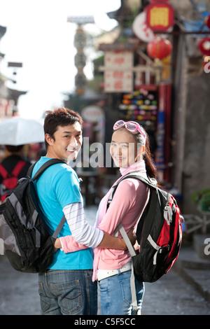 Jeune couple Off Explorer, Dali Banque D'Images