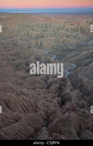 Point de polices, Anza-Borrego Desert State Park, Californie. Banque D'Images