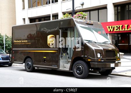 Camion de livraison UPS Nashville Tennessee USA Banque D'Images