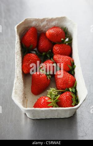 Close up de fraises dans la région de Fort Banque D'Images