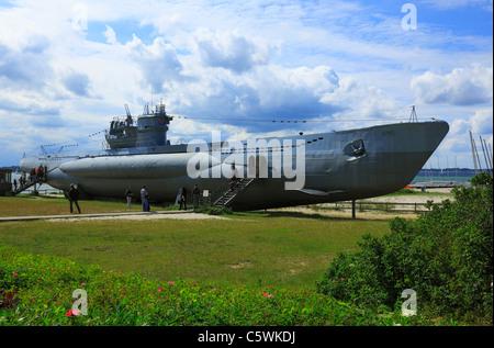 Museumsschiff, Deutsches-183) U 995 suis Marine-Ehrenmal à Laboe, Kieler Foerde, Ostsee, Probstei, Schleswig-Holstein Banque D'Images