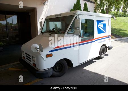 Usps américain united states postal service de distribution et de collecte van Nashville Tennessee usa Banque D'Images