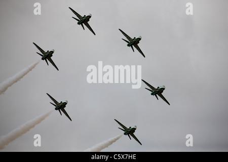 L'équipe de voltige de l'Arabie Hawks en action