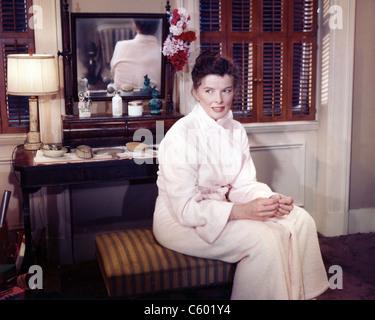 KATHARINE HEPBURN (1907-2003) des films américains et comédienne sur 1950 Banque D'Images