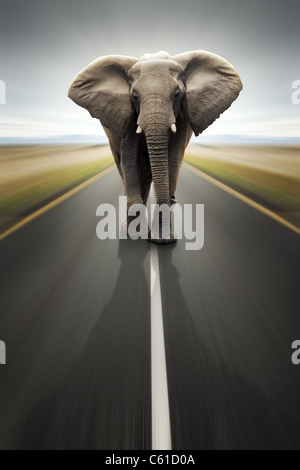 - Usage intensif conceptuel / transport voyager par route (Digital composite) Banque D'Images