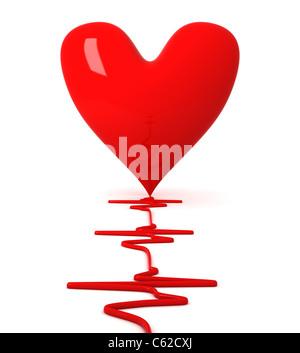 Battement de coeur Banque D'Images