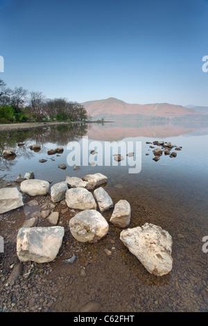 Derwentwater dans le Parc National de Lake District. Banque D'Images