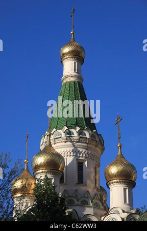 Bulgarie, Sofia, l'Église russe Saint-nicolas, Banque D'Images