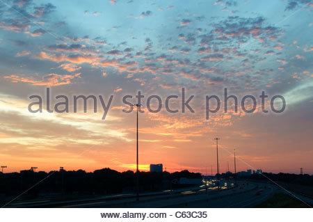 Un lever de soleil Banque D'Images