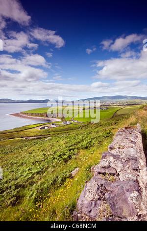 Le paysage sur l'Anneau du Kerry en Irlande à l'égard Waterville, venant de l'Est Banque D'Images