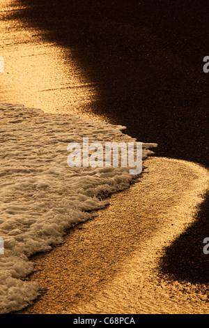 Vagues se brisant sur la plage Banque D'Images