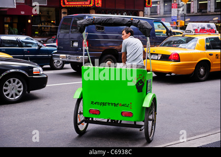 Rickshaw, Times Square, New York City, USA. Banque D'Images