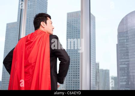 Le super-business-man Banque D'Images