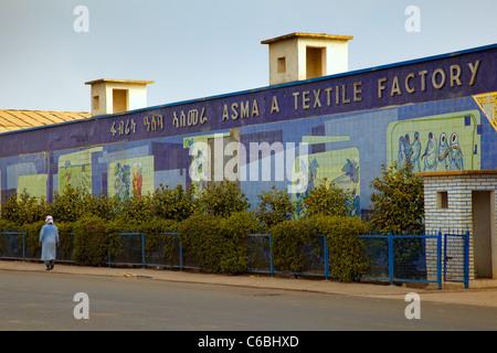 Usine de textile, Asmara Asmara, Erythrée, Afrique Banque D'Images