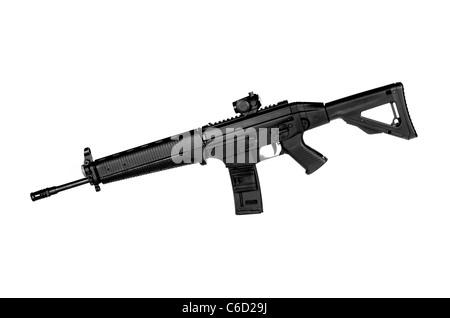 Image d'une OTAN .556 Fusil tactique sur un fond blanc Banque D'Images