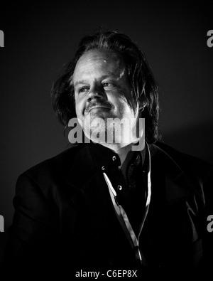 Producteur Américain, auteur, réalisateur, et acteur Larry Fessenden assiste à la Film 4 Frightfest à l'Empire Leicester Banque D'Images