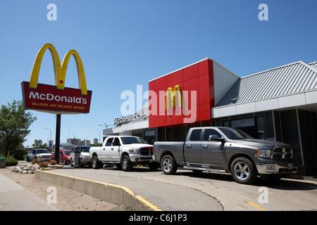 Mcdonald's restaurant à Winnipeg Manitoba canada Banque D'Images