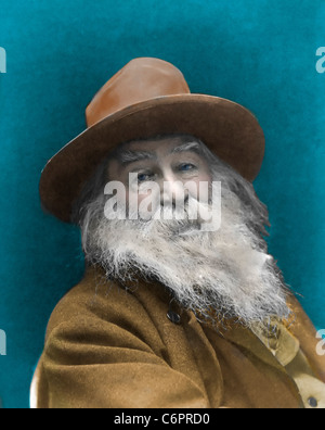 Walt Whitman (1819 - 1892) - poète américain, vers 1887 Banque D'Images