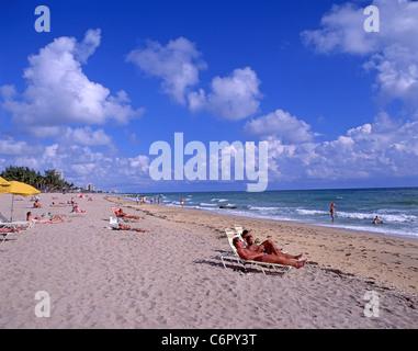 Vue de la plage, à Fort Lauderdale, Floride, États-Unis d'Amérique Banque D'Images