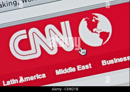 De près de l'logo CNN comme vu sur son site web. (Usage éditorial uniquement: -Print, télévision, e-book et le comité éditorial du site).
