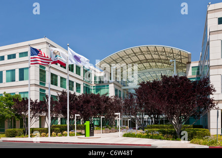 Le siège social d'Apple intégré à 1 à 6 Infinite Loop, Cupertino, Californie, USA. JMH5187