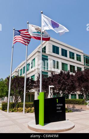 Le siège social d'Apple intégré à 1 à 6 Infinite Loop, Cupertino, Californie, USA. JMH5190